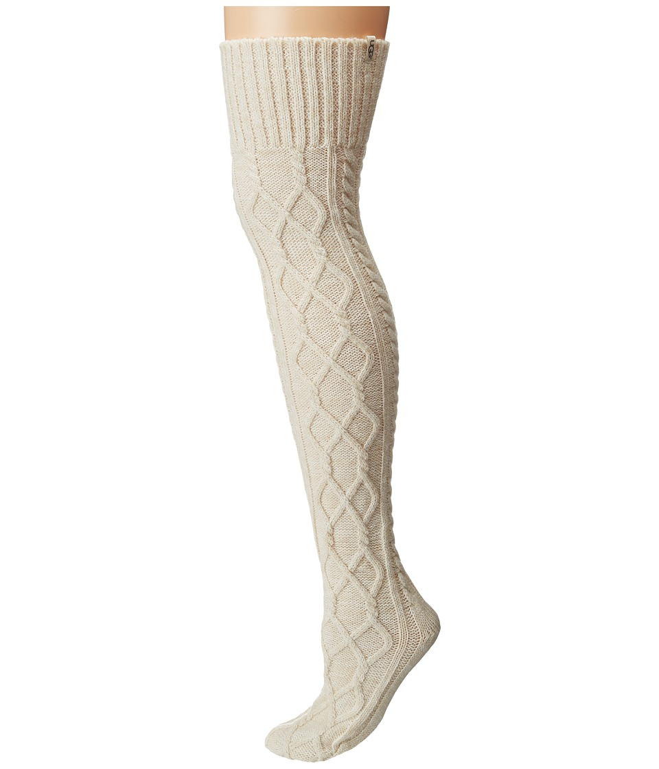 UGG - Classic Cable Knit Socks (Cream) Women