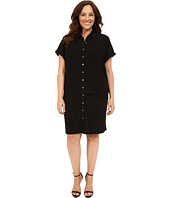 Calvin Klein Plus - Plus Size Double Layer Dress w/ Woven