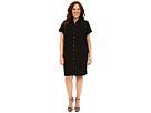 Calvin Klein Plus Plus Size Double Layer Dress w/ Woven