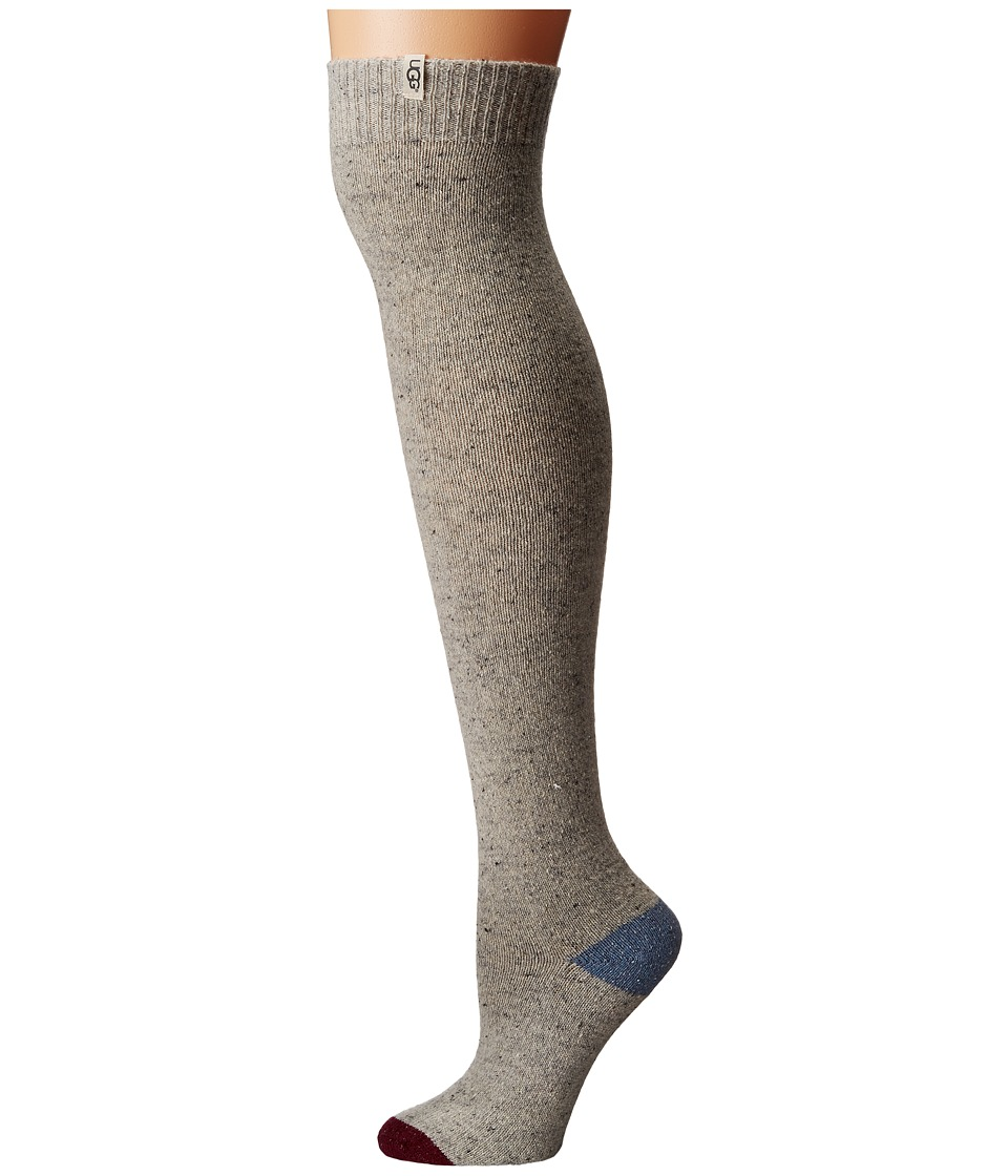 UGG - Color Block Rib Over the Knee Socks (Light Seal) Women