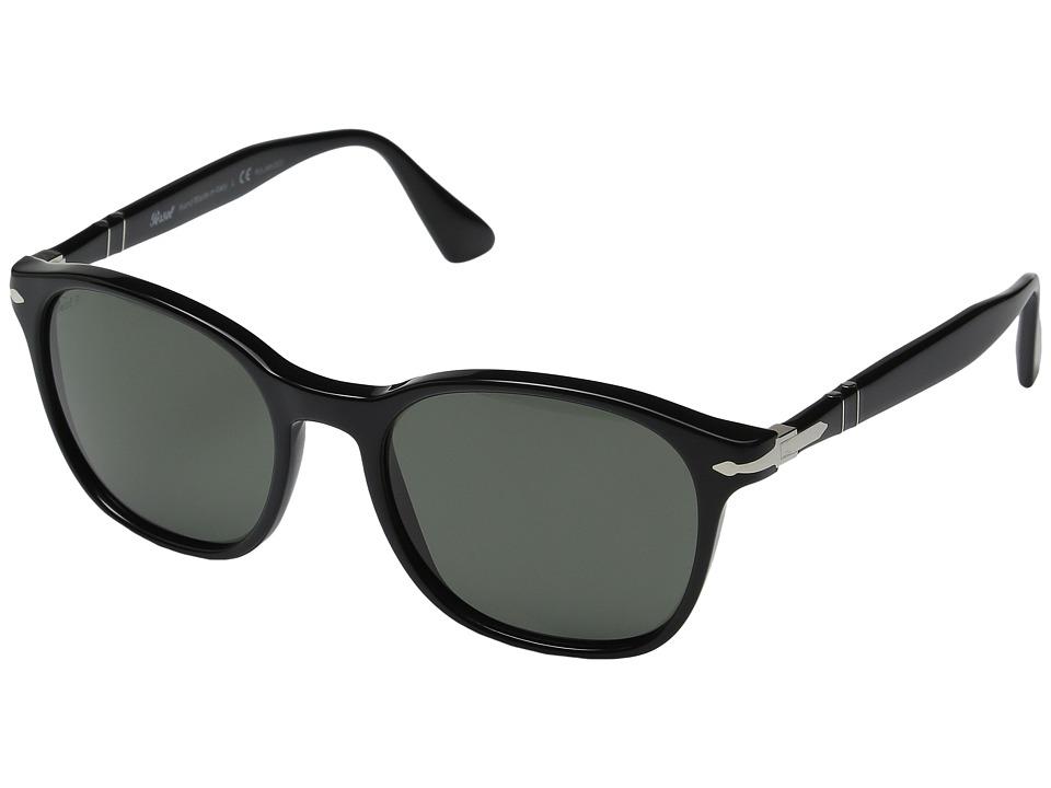 Persol - 0PO3150S (Black/Green Polarized) Fashion Sunglasses