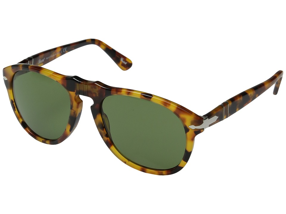 Persol - 0PO0649S (Spotted Havana/Green) Fashion Sunglasses
