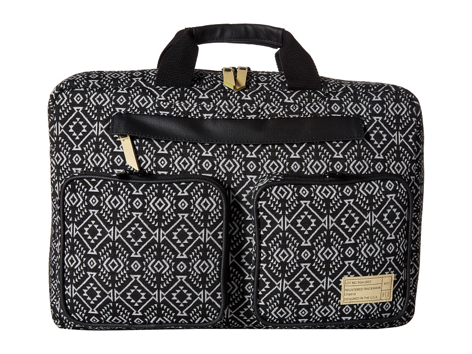 HEX Convertible Briefcase Black/White Briefcase Bags