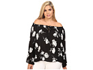 Plus Size Iris Off the Shoulder Top with Front Tie