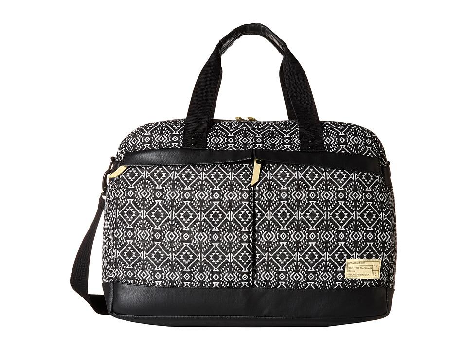 HEX - Overnight Duffel (Black/White) Duffel Bags