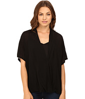 Culture Phit - Jennet Cross Front Top with Button Up Sleeve