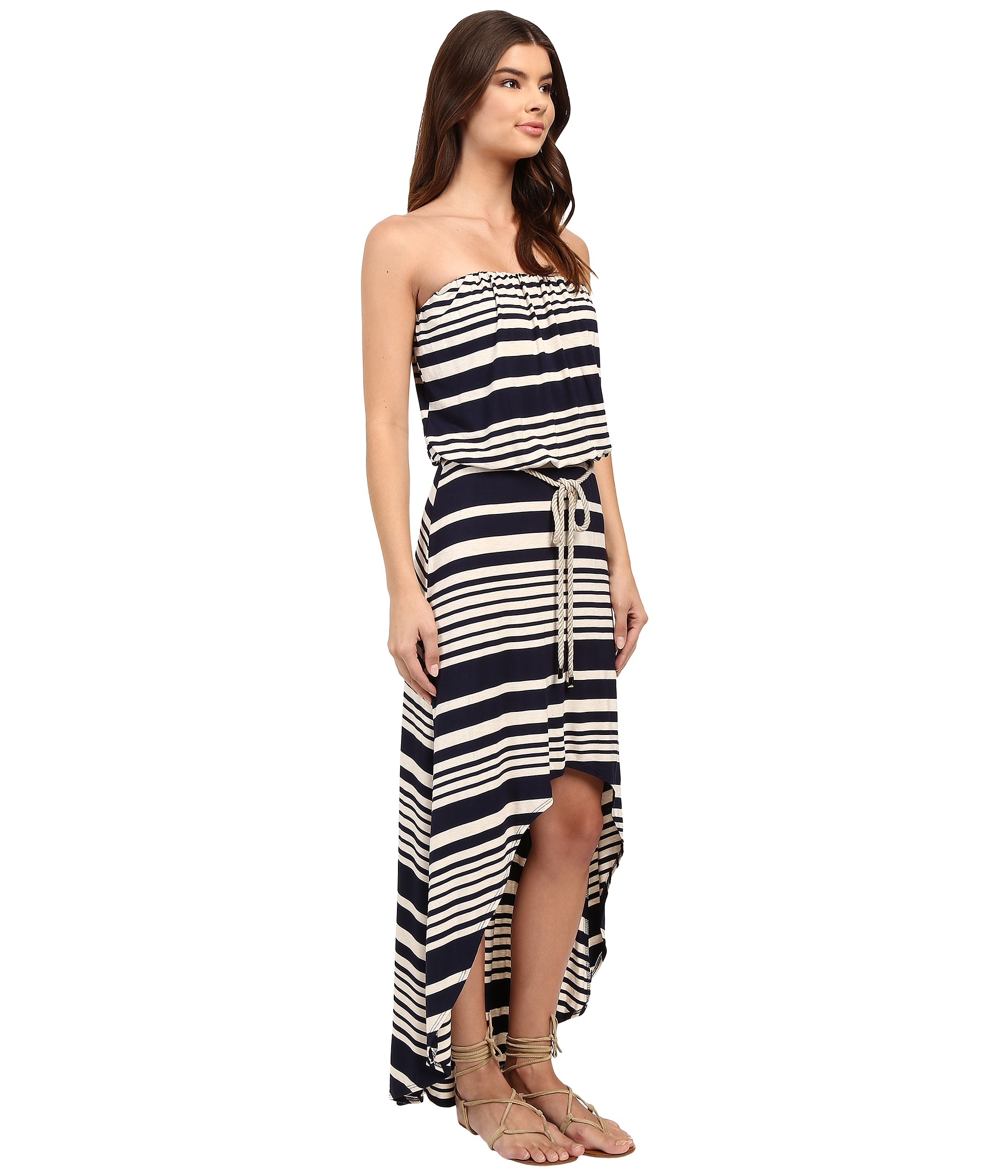 culture phit annia high low dress with rope belt zappos