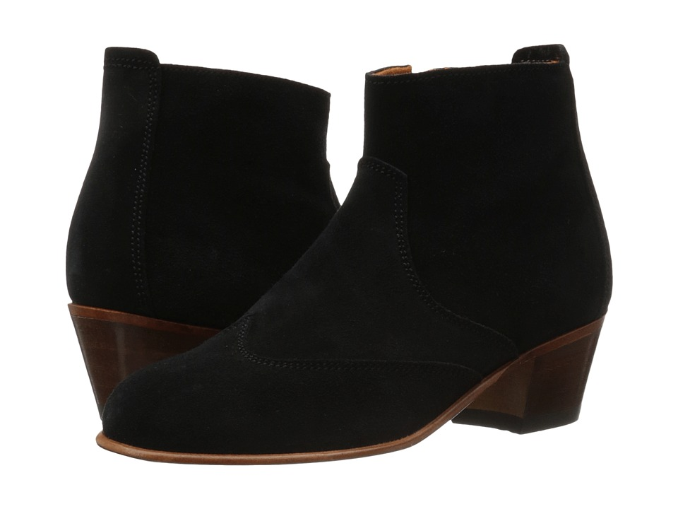 Penelope Chilvers Lisbon Suede Black Womens Shoes