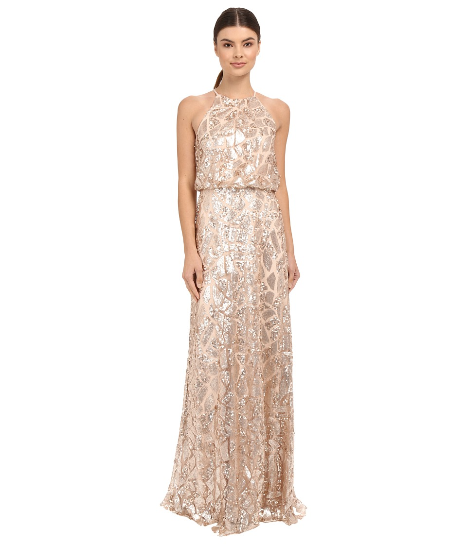 Donna Morgan - Halter Sequin (Rose Quartz) Womens Dress