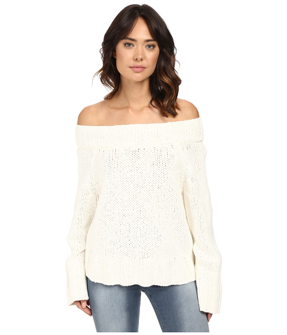 Free People - Beachy Slouch Pullover (Ivory) Women