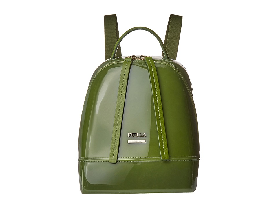 Furla - Candy Mini Backpack (Oliva) Backpack Bags