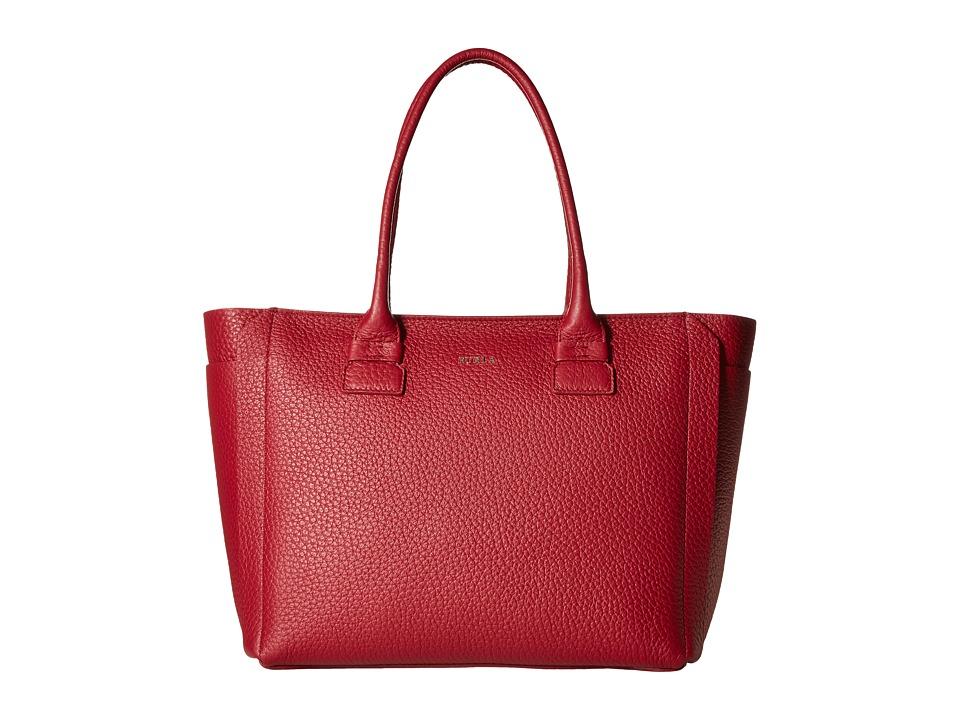 Furla - Capriccio Medium Tote (Rubino) Tote Handbags