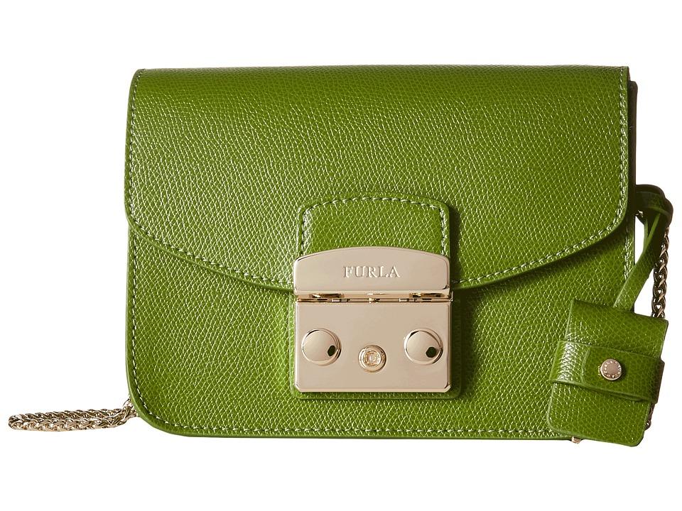Furla - Metropolis Mini Crossbody (Oliva) Cross Body Handbags