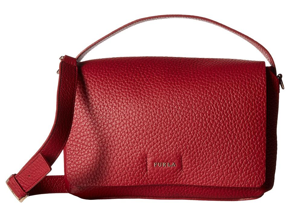 Furla - Capriccio Small Crossbody (Rubino) Cross Body Handbags