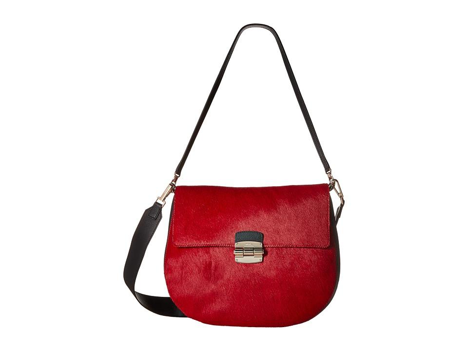 Furla - Club Medium Crossbody (Rubino) Cross Body Handbags