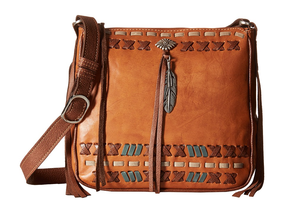 American West - Mohican Melody All-Access Crossbody (Golden Tan/Antique Brown) Cross Body Handbags