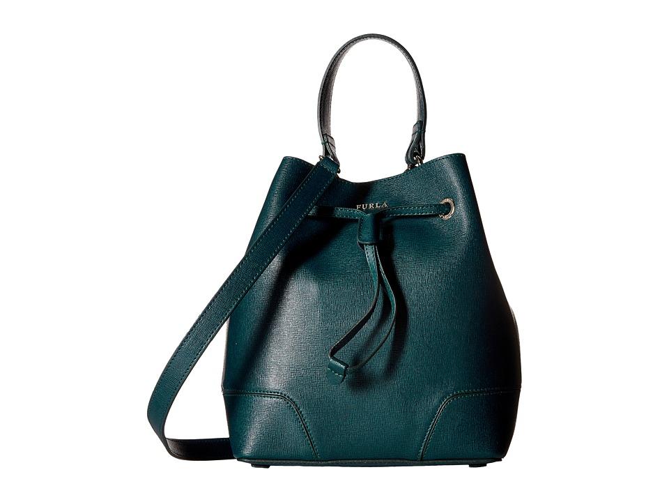 Furla - Stacy Small Drawstring (Petrolio) Drawstring Handbags