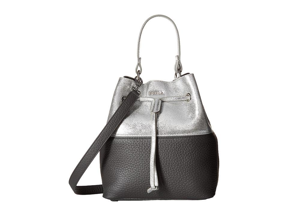 Furla - Stacy Small Drawstring (Lava/Silver) Drawstring Handbags