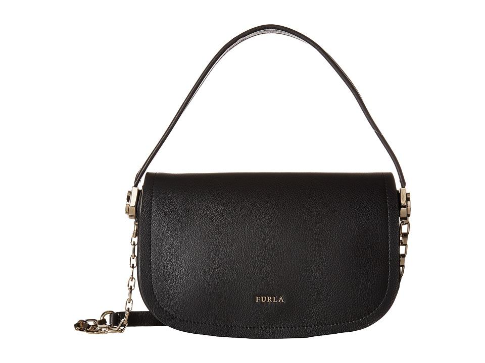 Furla - Luna Small Pochette (Onyx) Handbags