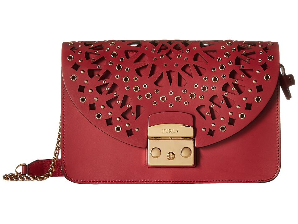 Furla - Metropolis Bolero Small Shoulder Bag C/Trafori (Rubino) Shoulder Handbags