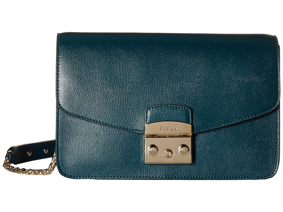 Furla - Metropolis Small Shoulder Bag (Petrolio) Shoulder Handbags