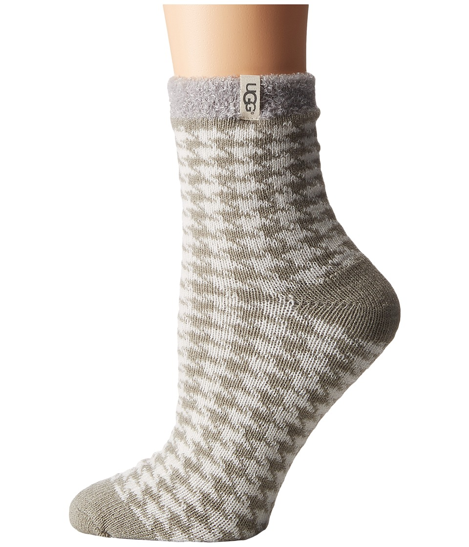 UGG - Houndstooth Fleece Lined Socks (Seal) Women