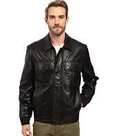 Marc New York by Andrew Marc - Andover Bomber Smooth Lamb Leather Bomber Jacket with Chest Pockets