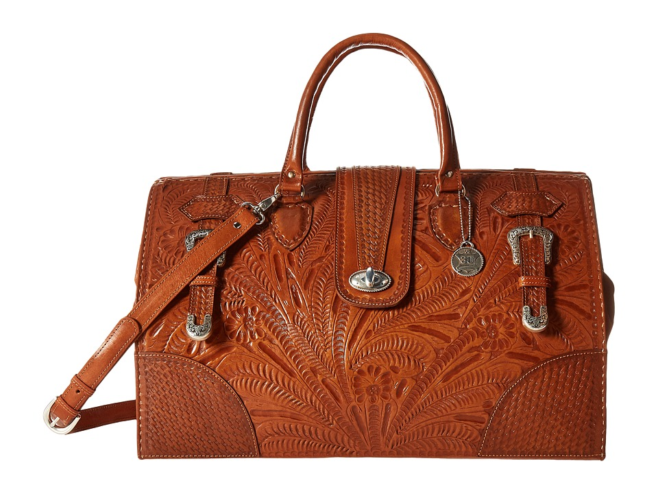 American West - American West 30th Anniversary Commemorative Collection Large Coach Bag (Golden Tan) Bags