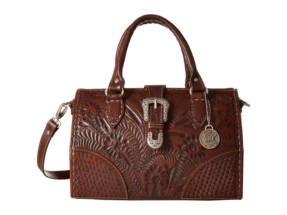 American West - American West 30th Anniversary Commemorative Collection Medium Coach Bag (Chestnut Brown) Bags
