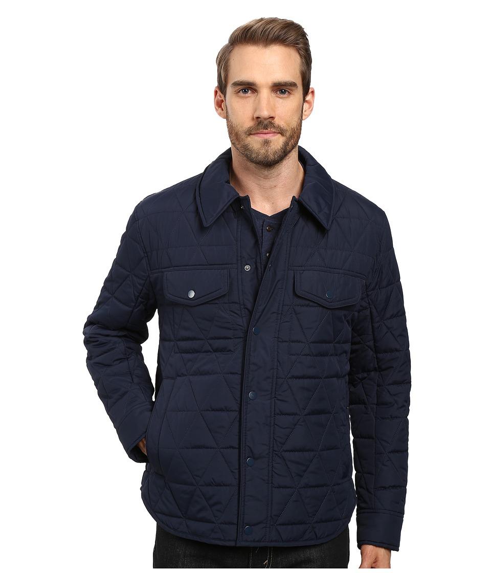 Andrew Marc Medford Poly Fill Shirt Jacket (Ink) Men's Ja...