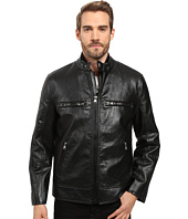 Marc New York by Andrew Marc - Anson Racer Distressed Faux Leather 3-in-1 Jacket With Removable Vest