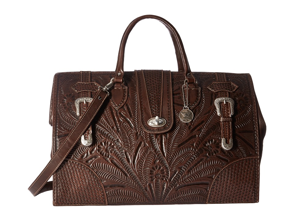 American West - American West 30th Anniversary Commemorative Collection Large Coach Bag (Chestnut Brown) Bags