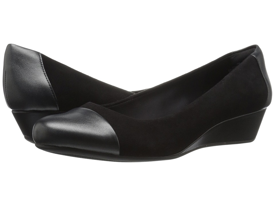 Easy Spirit - Daneri (Black/Black Suede) Women
