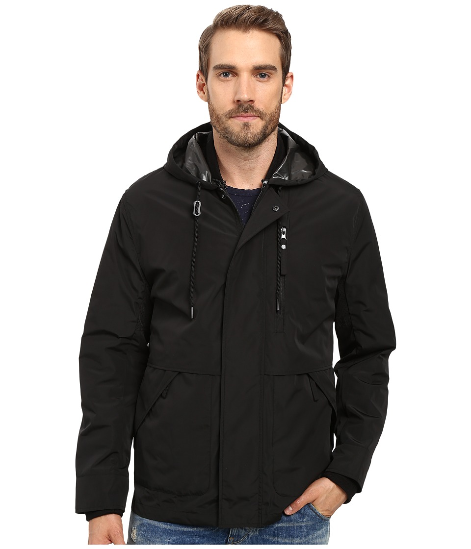 Marc New York by Andrew Marc - Graham Rain Tech 3-in-1 Systems Jacket with Removable Quilted Jacket (Black) Men