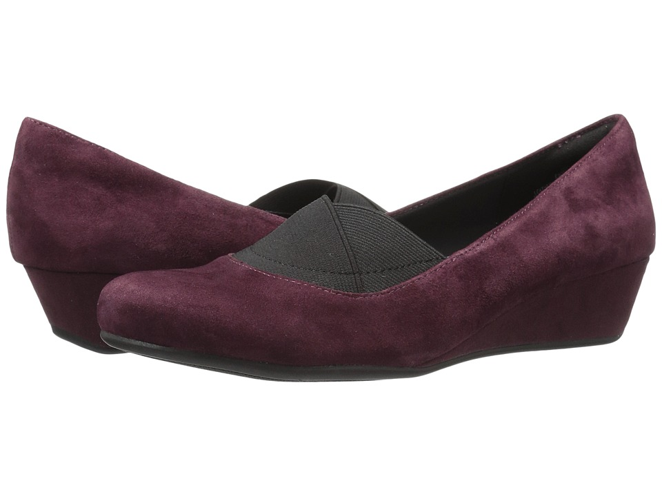 Easy Spirit - Davani (Wine/Black Suede) Women
