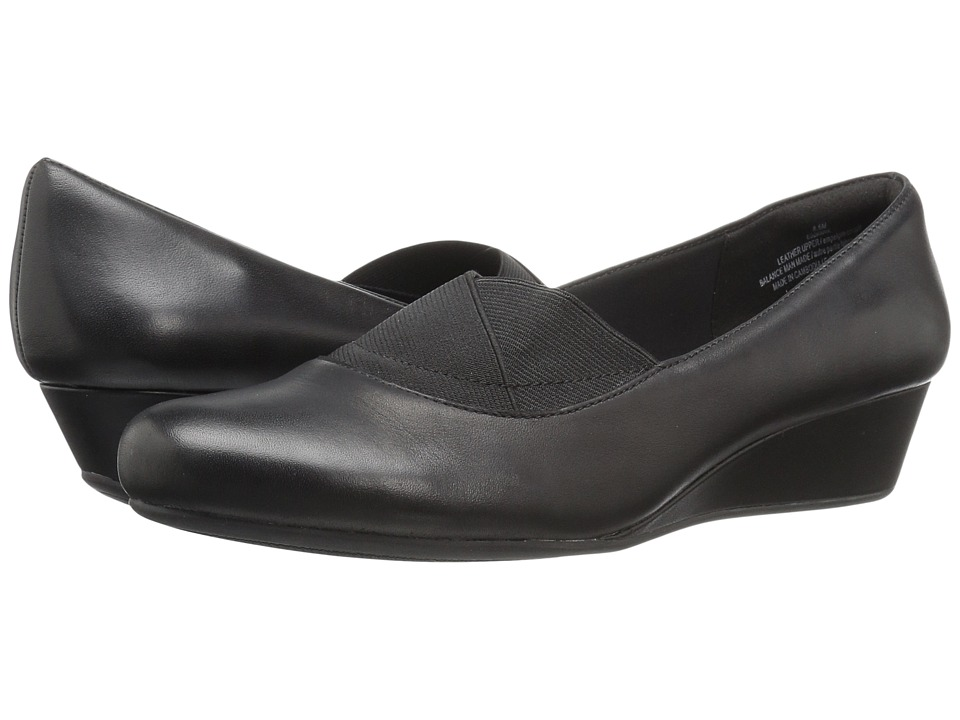 Easy Spirit - Davani (Black/Black Leather) Women