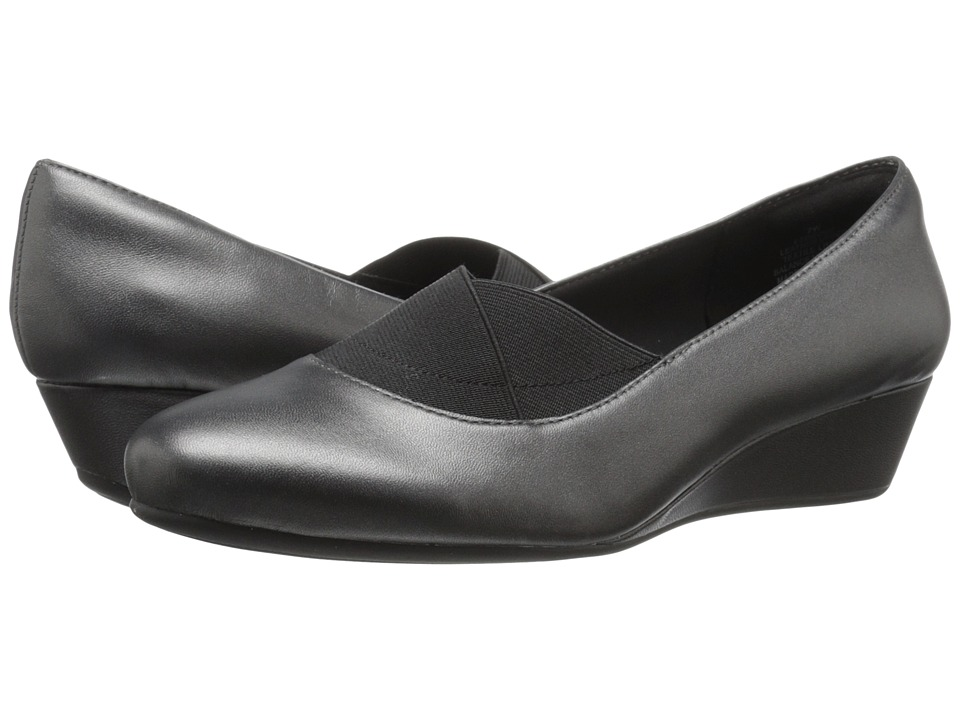 Easy Spirit - Davani (Pewter/Black Leather) Women