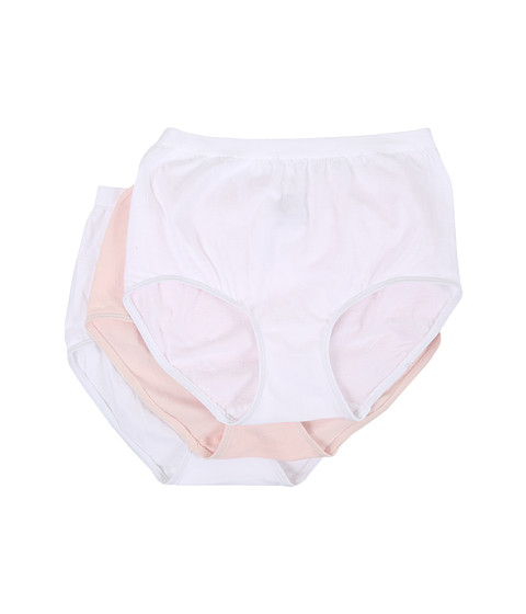 Jockey Comfies® Cotton Brief 3-Pack - White/Shell White