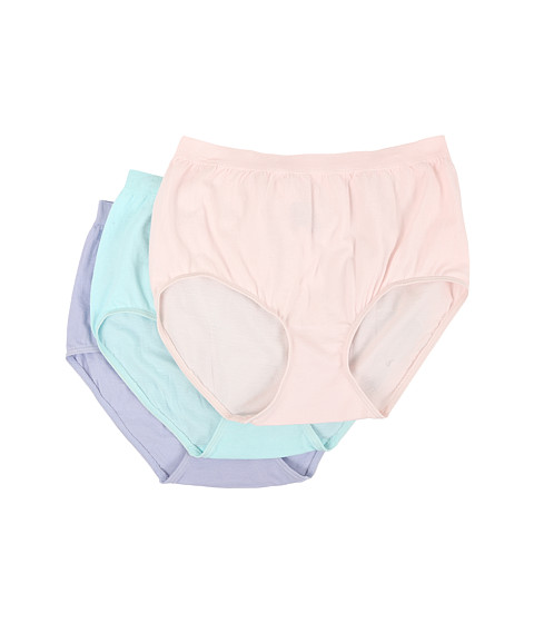 Jockey Comfies® Cotton Brief 3-Pack - Shell/Tiffany/Periwinkle