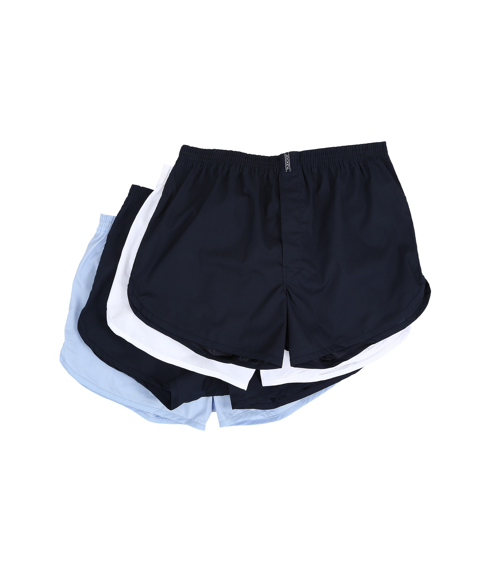 Jockey(R) four pack of lightweight boxers feature StayNew(tm) Technology that reduces fading and keeps fabric looking and feeling new, a comfort waistband, and a tapered design. 55% Cotton, 45% Polyester. Machine wash.