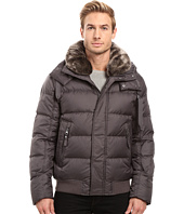 Marc New York by Andrew Marc - Rockingham Down Bomber with Removable Faux Fur Collar And Removable Hood