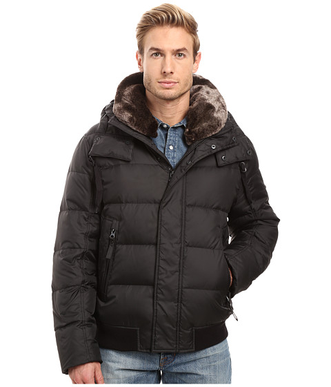 Marc New York by Andrew Marc Rockingham Down Bomber w/ Removable Faux Fur Collar & Hood