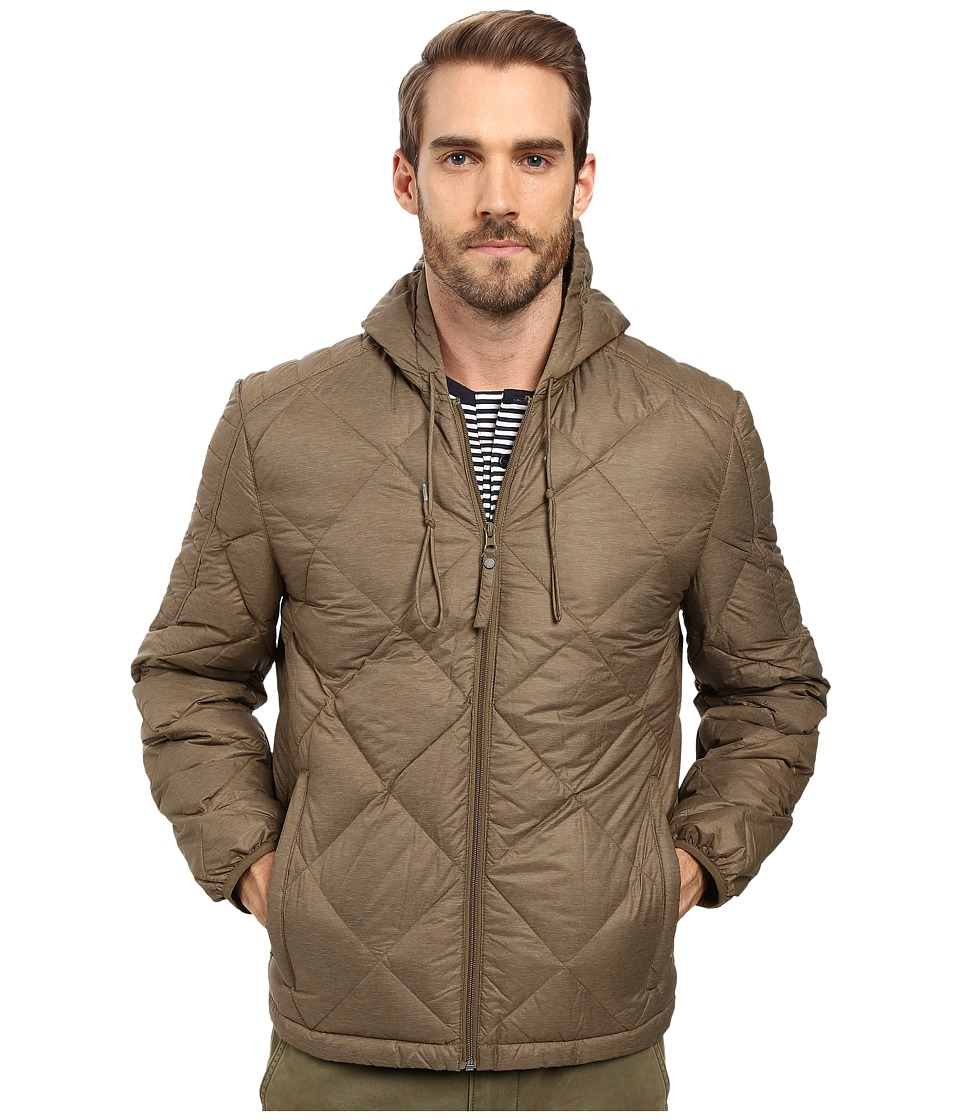 Marc New York by Andrew Marc - Appleton Melange Lightweight Packable Down Hoodie with Diamond Quilting (Grove) Men