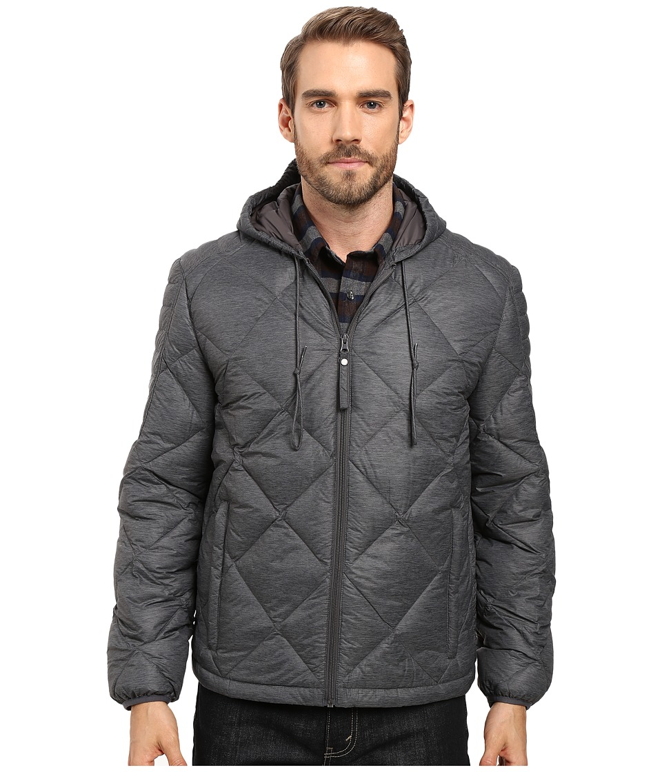 Marc New York by Andrew Marc - Appleton Melange Lightweight Packable Down Hoodie with Diamond Quilting (Fog) Men