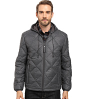Marc New York by Andrew Marc - Appleton Melange Lightweight Packable Down Hoodie with Diamond Quilting