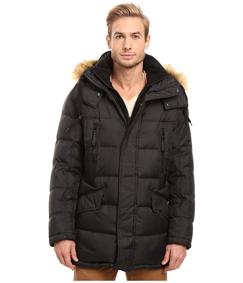 Marc New York by Andrew Marc Hancock Down Parka w/ Removable Hood and Fleece Bib - Black
