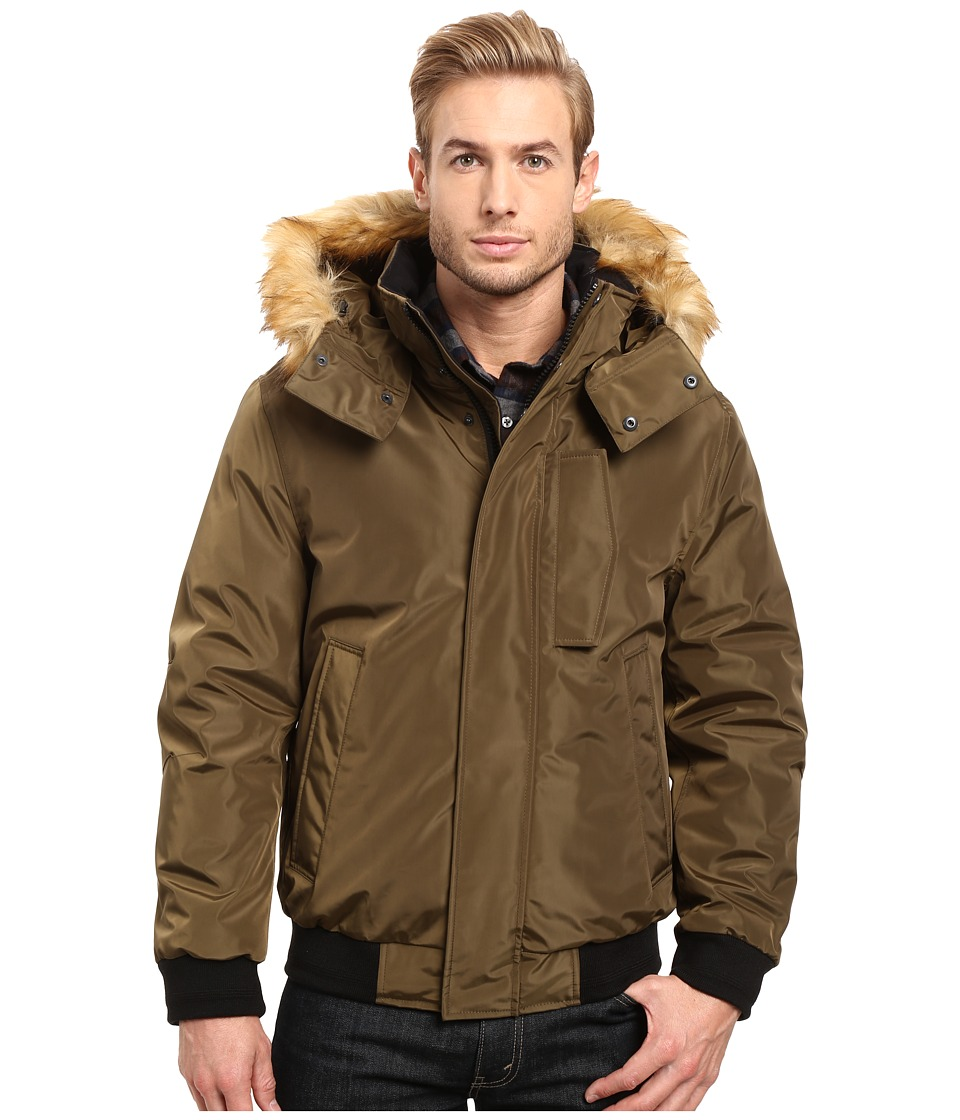 Marc New York by Andrew Marc Knox Down Bomber w/ Removable Faux Fur Hood (Grove) Men