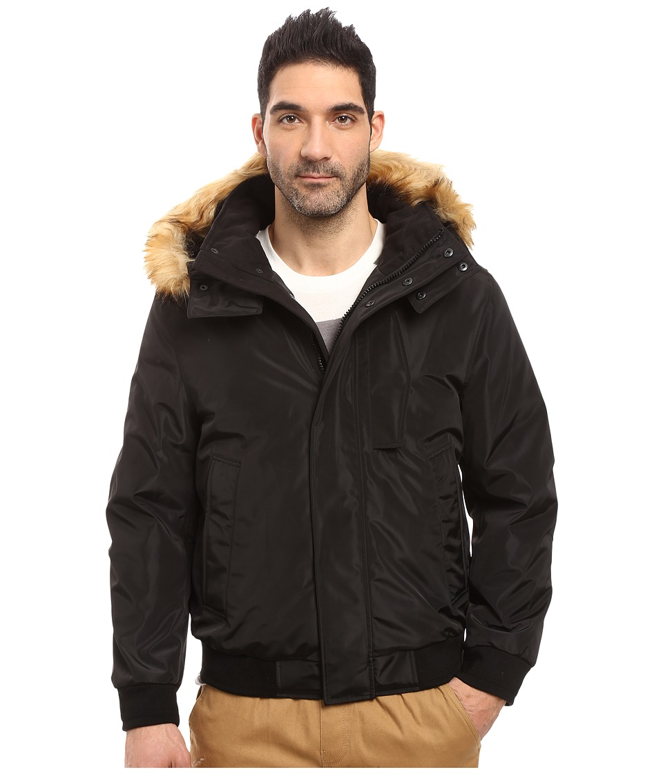 Marc New York by Andrew Marc Knox Down Bomber w/ Removable Faux Fur Hood (Black) Men