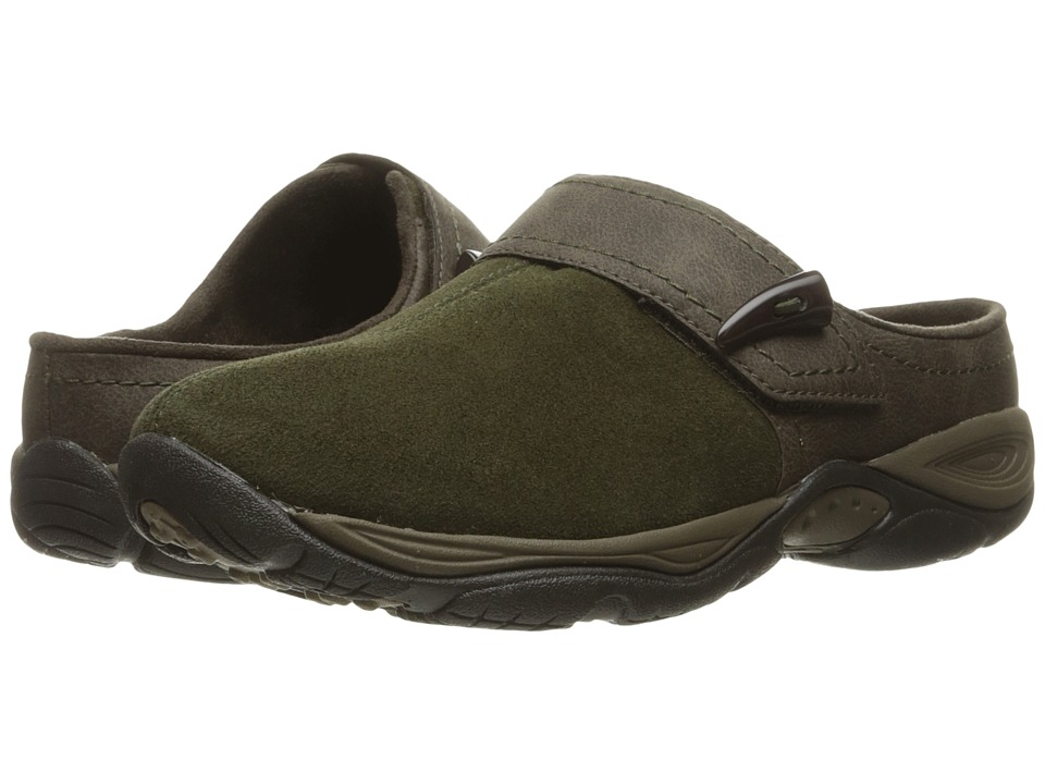 Easy Spirit - Eliana (Dark Green/Brown Suede) Women