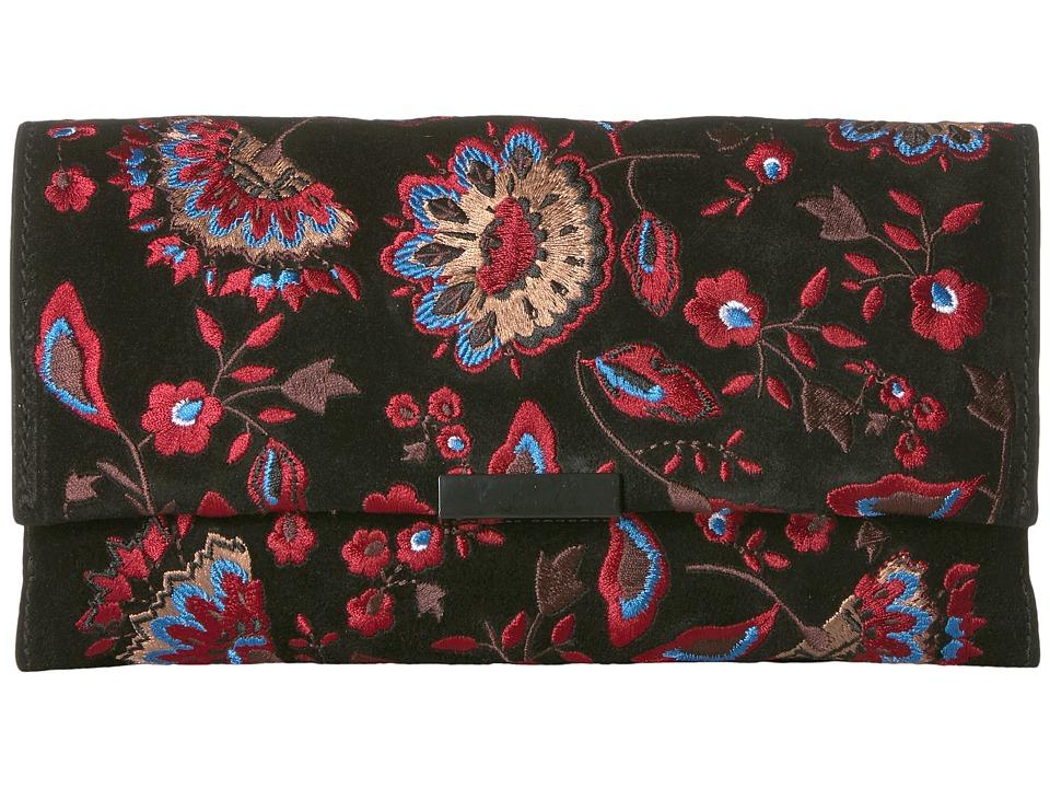 Loeffler Randall - Tab Clutch (Black Floral) Clutch Handbags